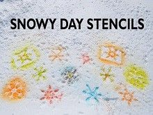 A snow-stencil activity your kids will love!