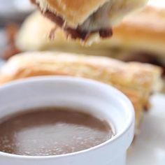 Crock Pot Dips, Crock Pot Slow Cooker, Slow Cooker Recipes, Crockpot Recipes, Cooking Recipes, Slow Cooking, Best French Dip Recipe, French Dip Recipes, French Onion Dip