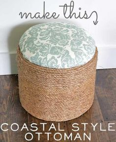 DIY Ottoman Furniture: Make This: Coastal Style Ottoman