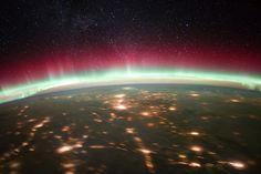 Archive: Aurora Over Calgary and Spokane (NASA, International Space Station, 02/19/12)