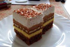 Výborné krémové řezy se sušenkami namočenými v kávě s rumem. Žloutkový a…