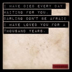 """""""A Thousand Years,"""" Christina Perri lyrics. The song my bridesmaids walked down the isle to. I absolutely love this song!"""