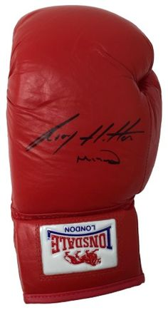 05e57f6cfe0 Ricky Hatton Signed Left Hand Lonsdale Boxing Glove Hitman Inscribed SI+A1  COA