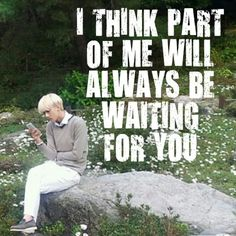 "QOTD :""I think part of me will always be waitinf for you"". Pic :Sehun instagram #EXO #Sehun #quotes"