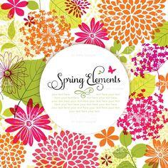 春デザイン、Copyspace ロイヤリティフリーのイラスト素材