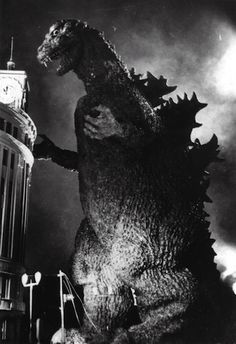 Godzilla, 1954 ... hahahahaha, this always reminds me of my brothers :)