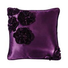 Satin Throw Pillow - Purple