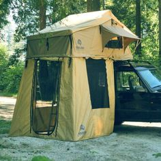rooftop tent - If sleeping on the rocky, uneven surface of camping grounds isn...