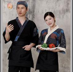 High Quality Japanese cuisine Chef uniform Woman 2017 Japanese waitress uniform Japanese Chef, Work Wear, Bomber Jacket, Woman, How To Wear, Fashion, Sacks, Outfit Work, Moda