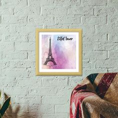 There might be a small signature from the artist. Study Office, Wooden Frames, Tower, Paris, Home Decor, Homemade Home Decor, Rook, Wood Frames, Lathe