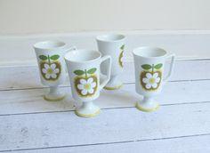 Apple, flower mug, Etsy