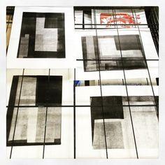 The drying rack #monoprint #printmaking #ShadwellPrintStudio (at Idea Store Learning) Herald Black