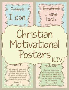 Christian Motivational Posters KJV - Warm Hearts Publishing