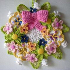 Crochet Spring wreath.
