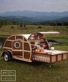 Bulleit Frontier Whiskey Woody-Tailgate Trailer-hahaha this has ty written all over it!