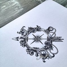 Compass with filigree