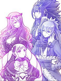Fire Emblem: If/Fates - Elise, Camilla, Ryouma, and Takumi