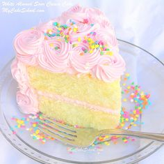 Amazing White Almond Sour Cream Cake Recipe from Scratch! Super moist and delicious! My Cake School Cake Recipes, Cake Tutorials, and More! Sour Cream Cake Recipe From Scratch, Almond Sour Cream Cake Recipe, Cake Recipes From Scratch, Almond Cream, Frosting Recipes, Cupcake Recipes, Cupcake Cakes, Poke Cakes, Layer Cakes