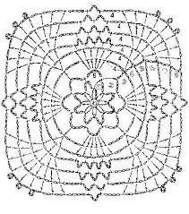 Resultado de imagem para squares flores croche graficos