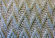 Chevron background with a basket weave filler.  This used the Diamonds/Triangles stencil.