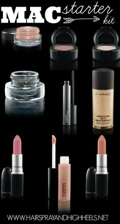 Makeup Starter Kit: MAC (replace some things with nudes that work better for your particular skin tone)