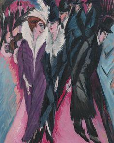 "2,297 Likes, 7 Comments - Art History Feed (@arthistoryfeed) on Instagram: ""Street, Berlin. Ernst Ludwig Kirchner, 1913. #kirchner #expressionism #arthistory"""
