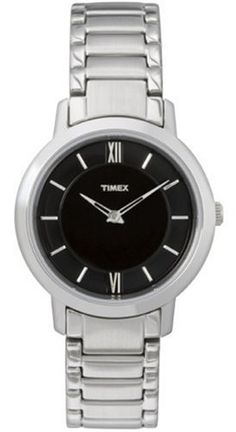 Timex Womens Elegant Black Dial Roman Numerals Stainless Steel Bracelet Watch >>> Visit the image link more details.