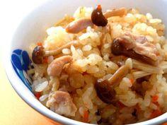 簡単激ウマ!鶏肉としめじの炊き込みご飯 の画像