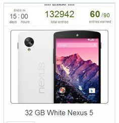 to win a nexus 5