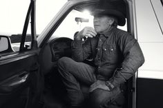 Sheriff Walt Longmire [Robert Taylor] and Truck!