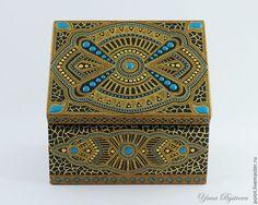 """Купить Шкатулка """"Дары падишаха"""" - шкатулка, шкатулка для украшений, шкатулка деревянная, точечная роспись"""