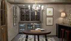Tommy and Rob transformed an unused portion of the basement into this dream room: a magnificent wine cellar that blends modern design with eye-catching antiques. Wine Cellar Basement, White Mantel, Interior And Exterior, Interior Design, Wine Storage, Hgtv, House Tours, Modern Design, Sweet Home
