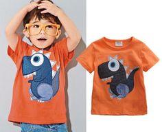 Orange-Baby-Kids-Boys-Cartoon-Dinosaur-Summer-Tops-T-shirt-Tees-Age-0-6Y **************************************** eBay: חולצת דינוזאור 100% כותנה לילדים עד גיל 6 מ-23 ₪ + משלוח חינם!