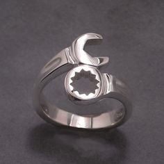 This ring screams my name... I'm always working with wrench or screw driver! Wrench ring - sterling silver. Etsy.