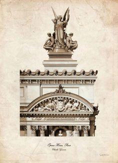 Opera House Paris Vintage architecture picture por SoulArtCorner