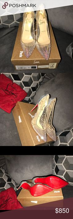 75f0e01aa81 Christian Louboutin Follies Strass 100 size 9 US These beauties were only  worn 2x! Christian