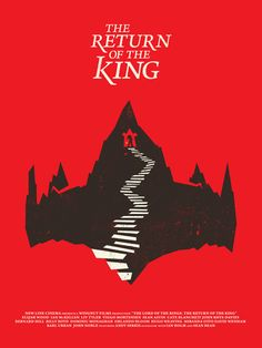 The Lord of the Rings: The Return of the King (2003) - Minimal Movie Poster by Matt Chase #minimalmovieposters #alternativemovieposters #mattchase #lotrminimal #lordoftherings