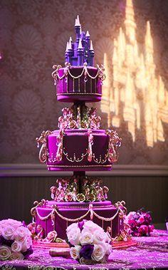 Wedding Cake Wednesday: Purple DazzlerEver After Blog | Disney Fairy Tale Weddings and Honeymoon