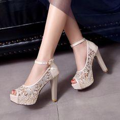 11cm High Heel Lace Wedding Shoes - My Wedding Ideas