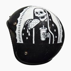 Vintage Count Blessings Not Calories Sugar Skull Tacos Motorcycle Helmet