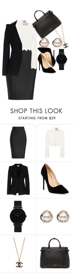 """Power Look: Job Interview"" by bolu ❤ liked on Polyvore featuring Roland Mouret, Nicholas, Armani Collezioni, Liliana, CLUSE, Trilogy and Burberry"