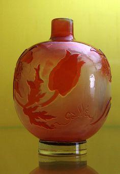 Veste Coburg museum: Art Nouveau bottle vase with tulips by Emile Gallé (1900) | Flickr - Photo Sharing!