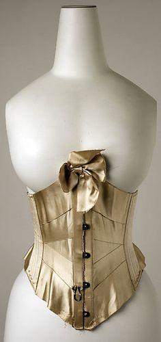 Corset Date: ca. 1900 Culture: American or European Medium: silk, whalebone (?) Accession Number: 1985.281.2
