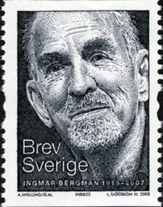 Colnect collectors club revolutionizes your collecting experience! Ingmar Bergman, Playwright, Film Director, Stamp Collecting, My Stamp, Sweden, Tv Series, People, Cinema