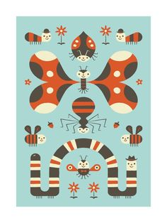 Little Buggers by Bob Daly for Minted
