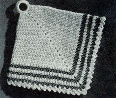 Vintage Diamond Potholder | Free Crochet Patterns