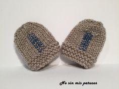 Manoplas tejidas para bebe recién nacido. Talla 0/3 meses