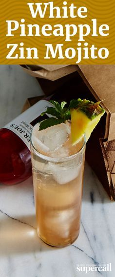 On its own, White Zinfandel can sometimes be a little sweet. But in this Mojito, it's perfect. Mixed with white rum, fresh pineapple and mint, the rosy wine comes through with its ripe strawberry flavors and hint of acidity.