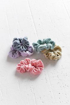 Velvet Hair Scrunchie Set $12.00