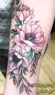 Tattoo ideas female sleeve flowers style new Ideas Time Tattoos, Body Art Tattoos, Sleeve Tattoos, Cool Tattoos, Black Tattoos, Tatoos, Faith Tattoos, Quote Tattoos, Music Tattoos